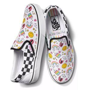 Vans x Flour Shop Classic Slip On Sneakers: Icons